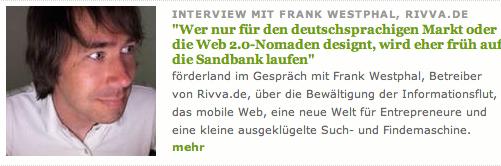 Interview fürs Förderland